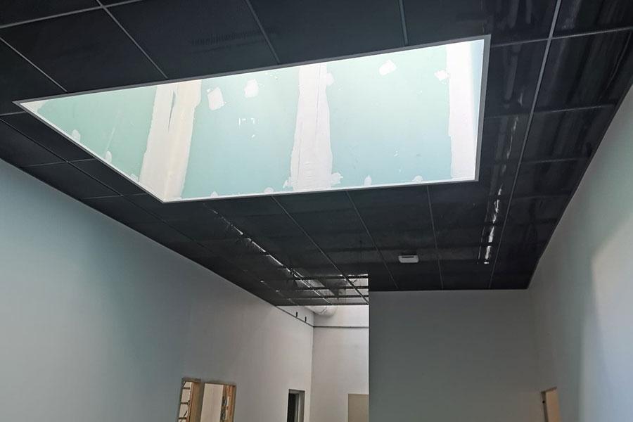 Pose-faux-plafond—école-de-Condé—Lyon-